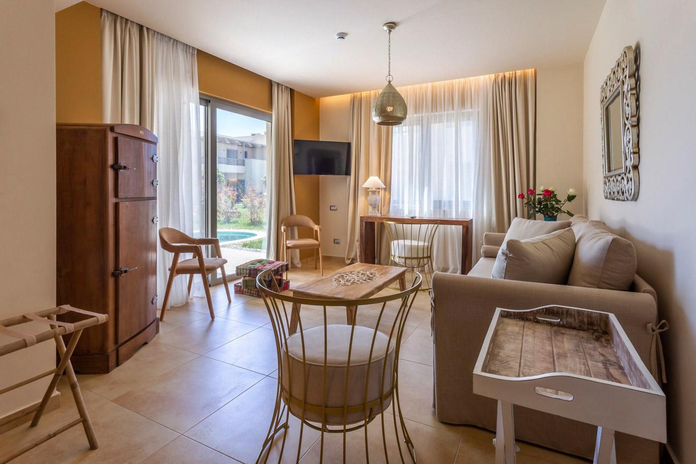 Elysian luxury hotel and spa Kalamata executive suite living room