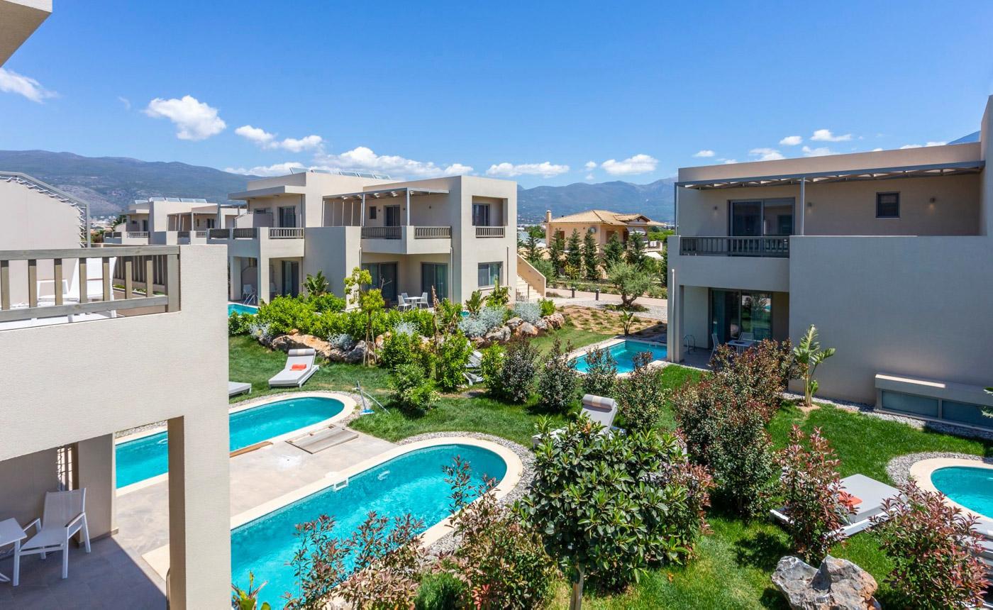 Elysian luxury hotel and spa Kalamata superior room exterior