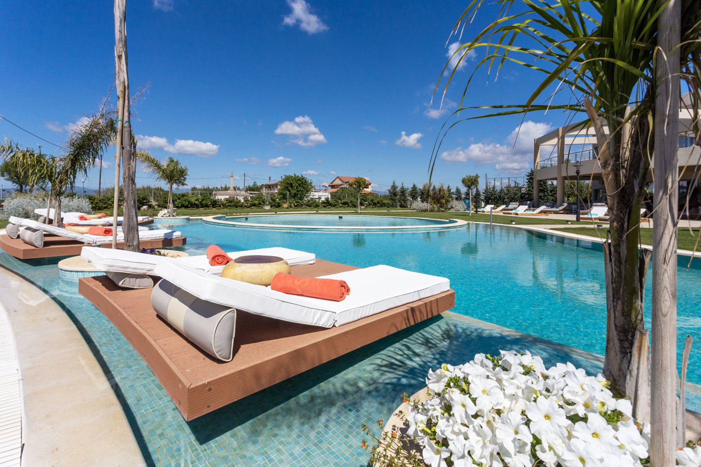 Elysian luxury hotel and spa Kalamata outside pool