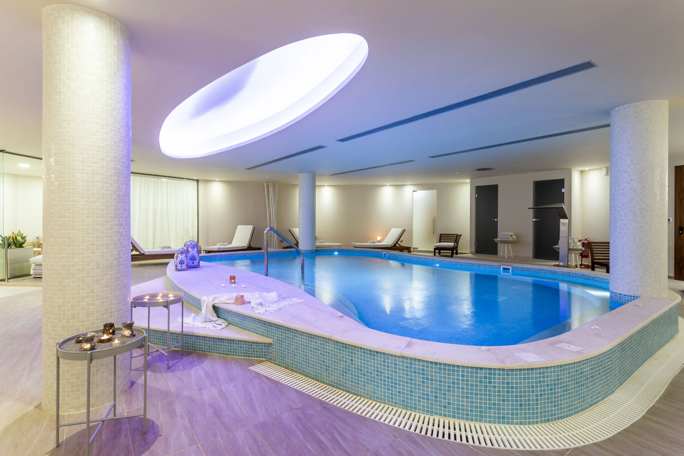 Elysian luxury hotel and spa Kalamata inside pool