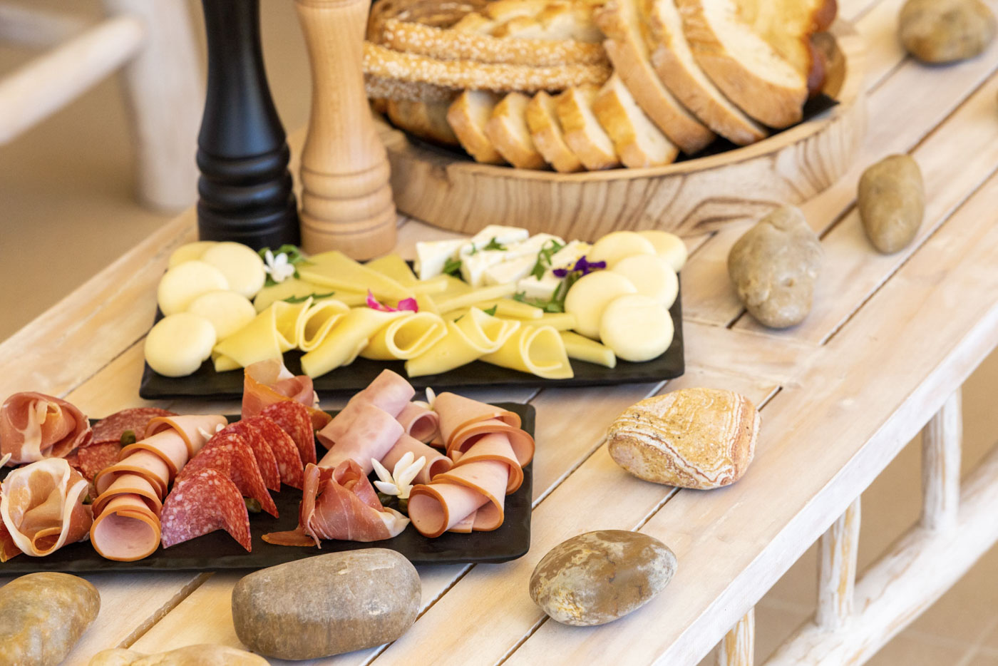Elysian luxury hotel and spa Kalamata breakfast with cheese